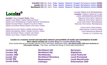 More brands and digital locations for national to local business and information listings.